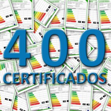 400 Certificados de Eficiencia Energética